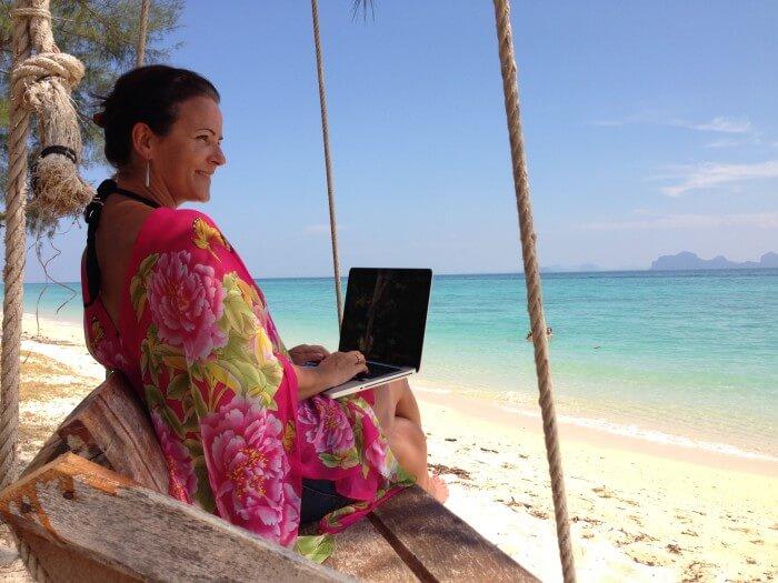Digitale Nomaden bei der Arbeit