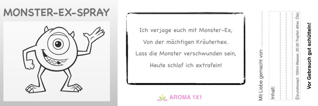 Etikett Monster Ex Spray
