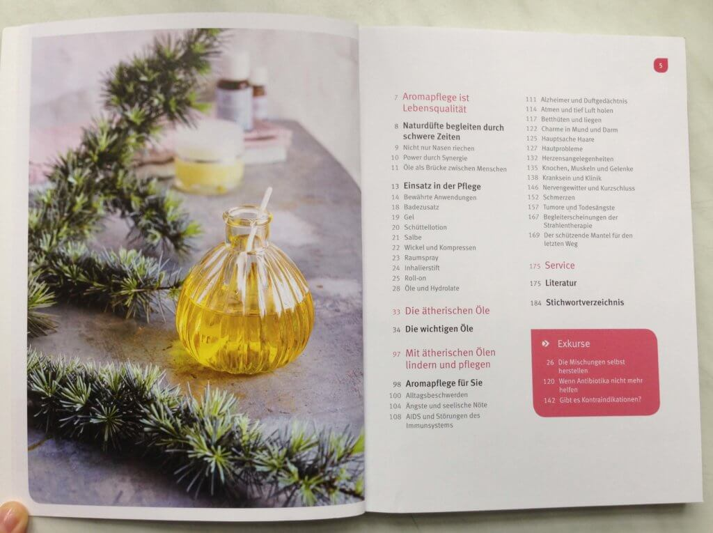Buch Aromapflege für Sie Inhalt