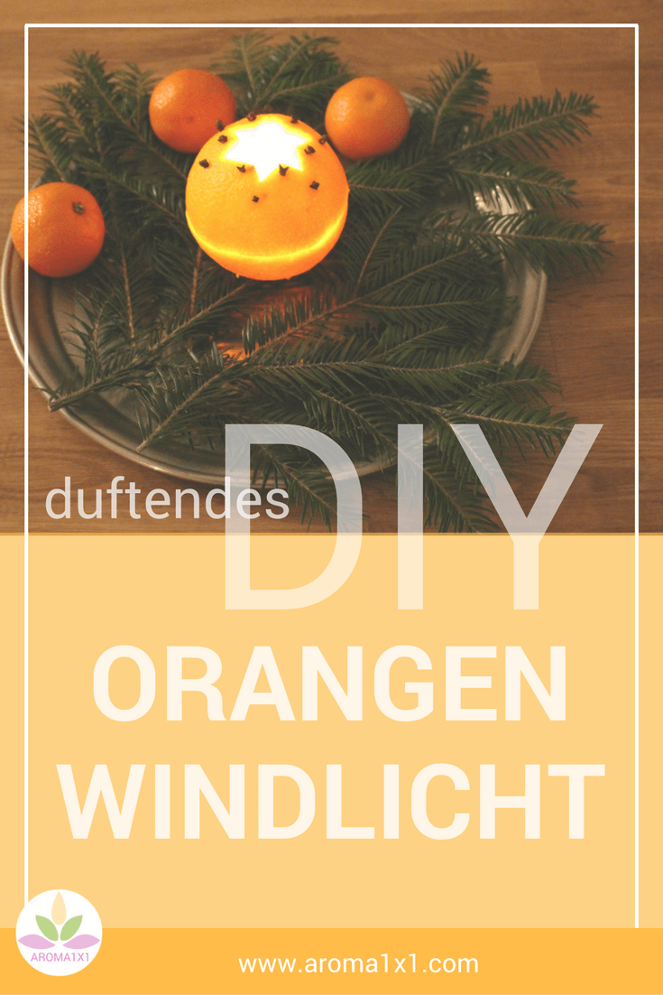 Orangen-Windlicht