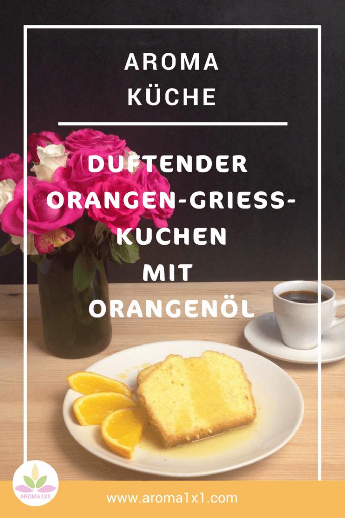 Orangen-Grieß-Kuchen Pinterest